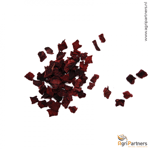 Rode biet Red beet cubes dehydrated